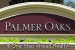 Palmer Oaks community sign