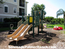 This tot-lot is provided for the recreation of Serenade's younger residents.