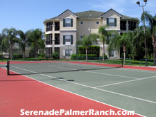 Engage in an evening tennis match on Serenade's lighted tennis court adjacent to the clubhouse.